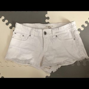FOREVER21 WHITE CUT OFF SHORTS